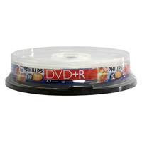 Philips DVD+R 16x 4.7GB/120 Minute Discs 10 Pack