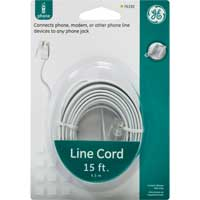 GE RJ-11 Male to RJ-11 Male Phone Line Cord 15 ft. - White