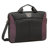 "Swiss Gear Sherpa Slimcase Notebook Sleeve Fits Screens up to 16"" Black/Burgundy"