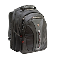 "Swiss Gear Legacy Laptop Backpack Fits Screens up to 15.6""- Black"