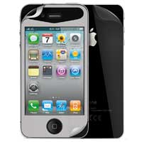 iSkin Inc Glam Protective Screen Film for iPhone 4/4S Silver