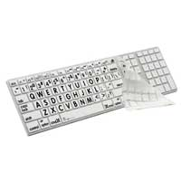 Logickeyboard XLPrint LogicSkin Black on White Keyboard Cover
