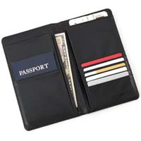 Samsonite Leather Travel Wallet Black