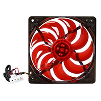 Fanner Tech USA Masscool 120mm Red LED Light 2 Ball Bearing Case Fan