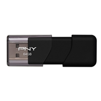 PNY Attaché 64GB USB 2.0 Flash Drive PFD64GATT03EFS2