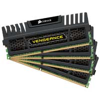 Corsair Vengeance Series 32GB DDR3-1600 (PC3-12800) CL 10 Quad Channel Desktop Memory Kit (Four 8GB Memory Modules)