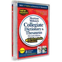 JC Research Merriam-Webster Collegiate Dictionary Combo