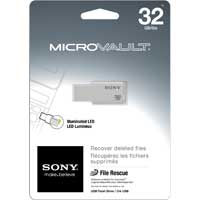 Sony Micro Vault M-Series 32GB USB 2.0 Flash Drive USM32GM/W