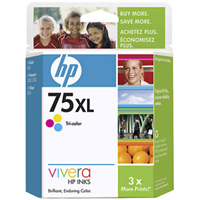 HP HP 75XL Tri-Color Ink Cartridge (CB338WN#140)