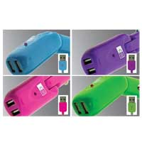 Bytech 2.1 Amp Dual USB Vehicle Charger for iPhone/iPod/iPad Assorted Colors