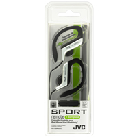 JVC Sport Clip In-Ear Headphones with Remote and Mic Silver