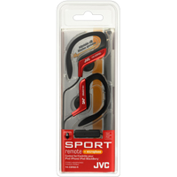 JVC Sport Clip In-Ear Headphones with Remote and Mic - Red