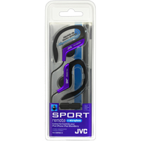 JVC Sport Clip In-Ear Headphones with Remote and Mic - Blue