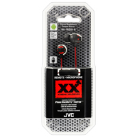 JVC XX Xtreme Xplosives Stereo In-Ear Headphones with 1-Button Remote and Mic Red