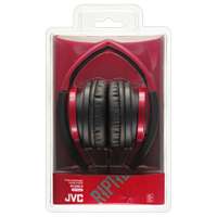 JVC Riptidz HA-S200 On-Ear Headphones - Red