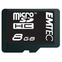 Emtec International 8GB Class 4 Micro Secure Digital High Capacity (Micro SDHC) Flash Media Card with Adapter EKMSDM8GB60XHC
