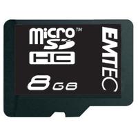 Emtec International 8GB Class 4 Micro Secure Digital High Capacity (Micro SDHC) Flash Media Card with Adapter EKMSDM8GB60XHC