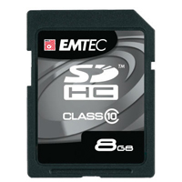 Emtec International 8GB Class 10 Secure Digital High Capacity (SDHC) Flash Media Card EKMSD8G150XHC