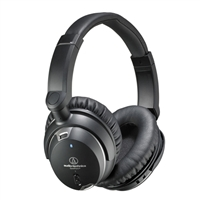 Audio-Technica QuietPoint 3-Level Active Noise-Cancelling Over Ear Headphones - Black