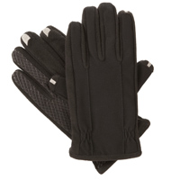 Totes Isotoner Corporation Men's L SmarTouch 2.0 Stretch Gloves - Black