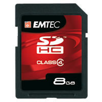 Emtec International 8GB Class 4 Secure Digital High Capacity (SDHC) Flash Media Card EKMSD8GB60XHC