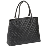 "SOLO Classic Notebook Tote Fits Screens up to 16"" Quilted Black"