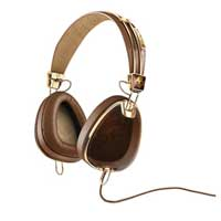 Skull Candy 2012 Roc Nation Aviator Headphones - Brown and Gold