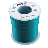 NTE Electronics 22 Gauge Stranded Hook-Up Wire 25-Foot Green