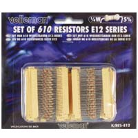 Velleman 1/4 Watt Assorted Resistors 610 Piece