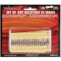 Velleman 480 Piece Assortment of 1/4 Watt Resistors