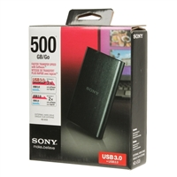 "Sony 500GB 2.5"" USB 3.0 External Hard Drive"