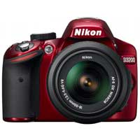 Nikon D3200 24.2 Megapixel DSLR Camera - Red