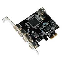 Fanner Tech USA Masscool 4+1-port High Speed USB 2.0 PCIe Controller Card