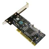 Fanner Tech USA Masscool XWT-RC040 4-port SATA 1.5Gb/s PCI Controller Card with RAID Support