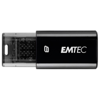 Emtec International C600 Click 8GB USB 2.0 Flash Drive - Black EKMMD8GC600
