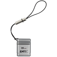 Emtec International S100 Micro 16GB USB 2.0 Flash Drive - Silver EKMMD16GS100