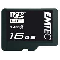 Emtec International 16GB Class 10 Micro Secure Digital High Capacity (Micro SDHC) with Adapter EKMSDM16GB150XH