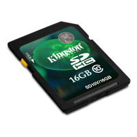Kingston 16GB Class 10 Secure Digital High Capacity (SDHC) Flash Media Card SD10V/16GB