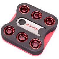"Monsoon Multimedia Free Center Compression Fitting 1/2""ID x 3/4""OD 6-Pack Red"