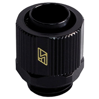 "Swiftech G 1/4"" Lok-Seal Straight Compression Fitting - Black"
