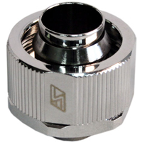 "Swiftech G 1/4"" Lok-Seal Straight Compression Fitting - Chrome"