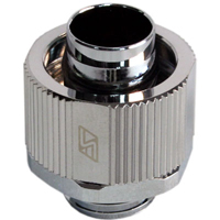 "Swiftech Lok-Seal 3/8"" x 5/8"" G1/4 Compression Fitting Chrome"