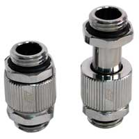 Swiftech Lok-Seal G1/4 Male-Male SLI & CrossFireX 20mm to 33mm Adjustable Connector Fitting Chrome