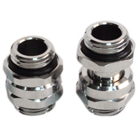 "Swiftech G 1/4"" Lok-Seal Male-Male SLI & CrossFireX 11mm to 18mm Adjustable Connector Fitting - Chrome"