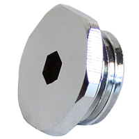 Swiftech Lok-Seal G1/4 Socket Plug Fitting Chrome