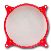 ModRight FilterRight 80mm Red UV Reactive Aluminum Fan Filter
