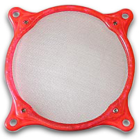 Lamptron 120mm Steel Mesh Fan Filter UV Red