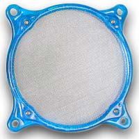 Lamptron 80mm Steel Mesh Fan Filter UV Blue