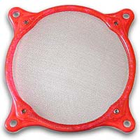Lamptron 80mm Steel Mesh Fan Filter UV Red