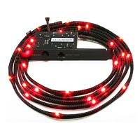 NZXT 6.56 Foot Sleeved LED Case Light Kit - Red
